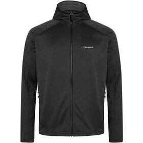 Berghaus Spitzer InterActive Hooded Fleece Jacket Men, jet black/grey pinstripe